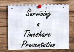 survive timeshare presentation