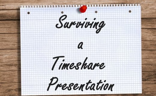 survive timeshare presentation